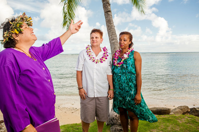 Oahu Gay Wedding with Kalona