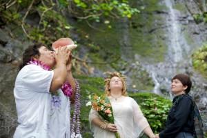 Oahu waterfall wedding