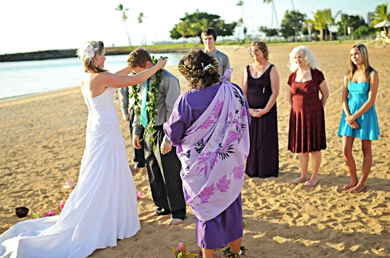 Waikiki Beach Wedding Ceremony
