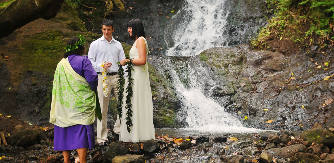 Oahu Waterfall Wedding